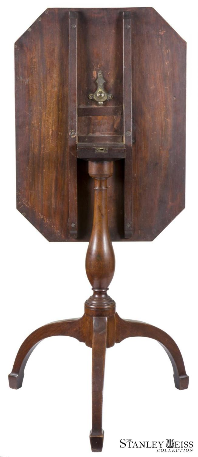 Mahogany Federal Tilt Top Table With Spider Legs C 1810