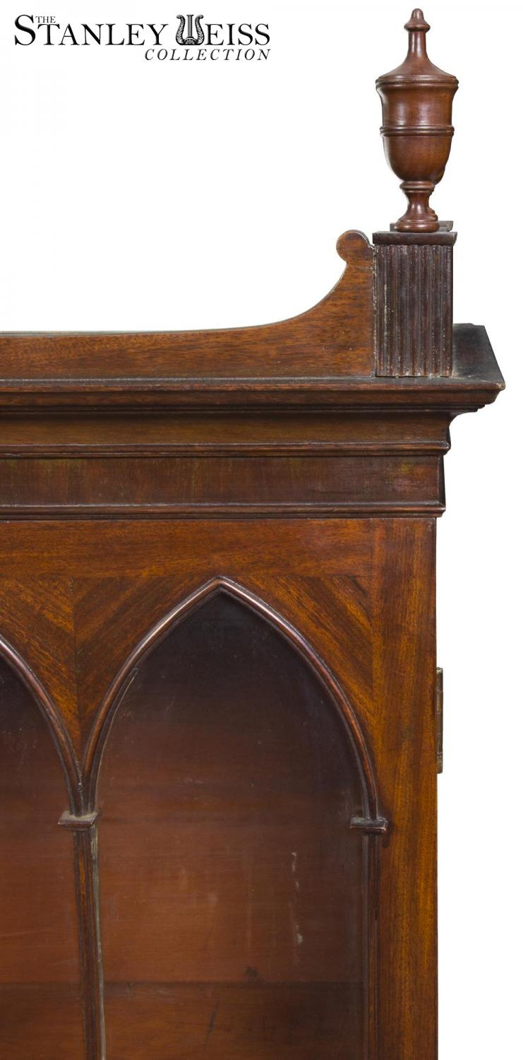 A Federal Classical Cylinder Front Secretary With Ivory