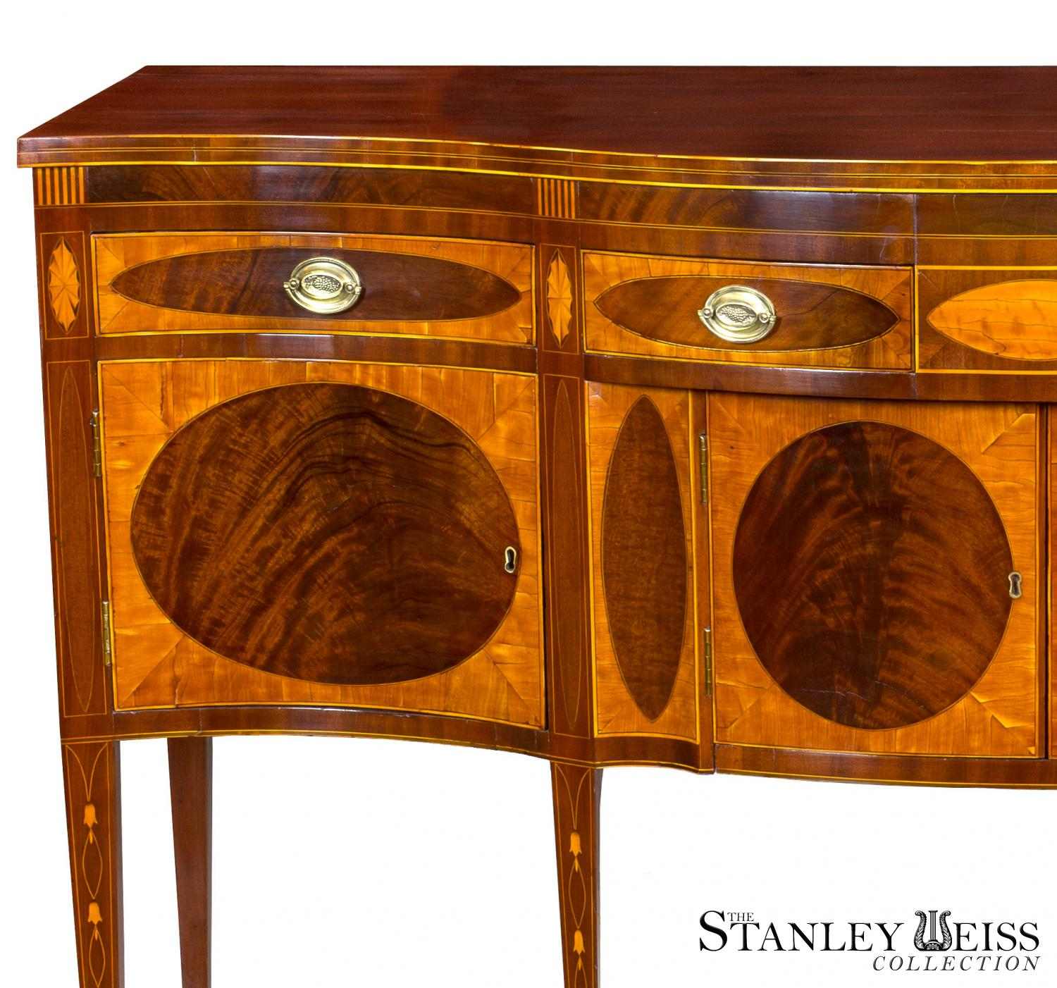 An Outstanding Satinwood and Mahogany Hepplewhite / Inlaid ...