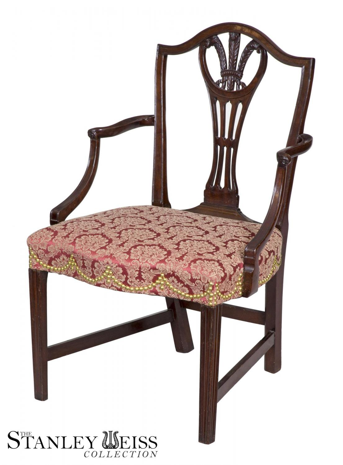Amazing Federal Hepplewhite Shield Back Armchair, Mahogany, New York, Circa 1790,  Attributed To George Shipley