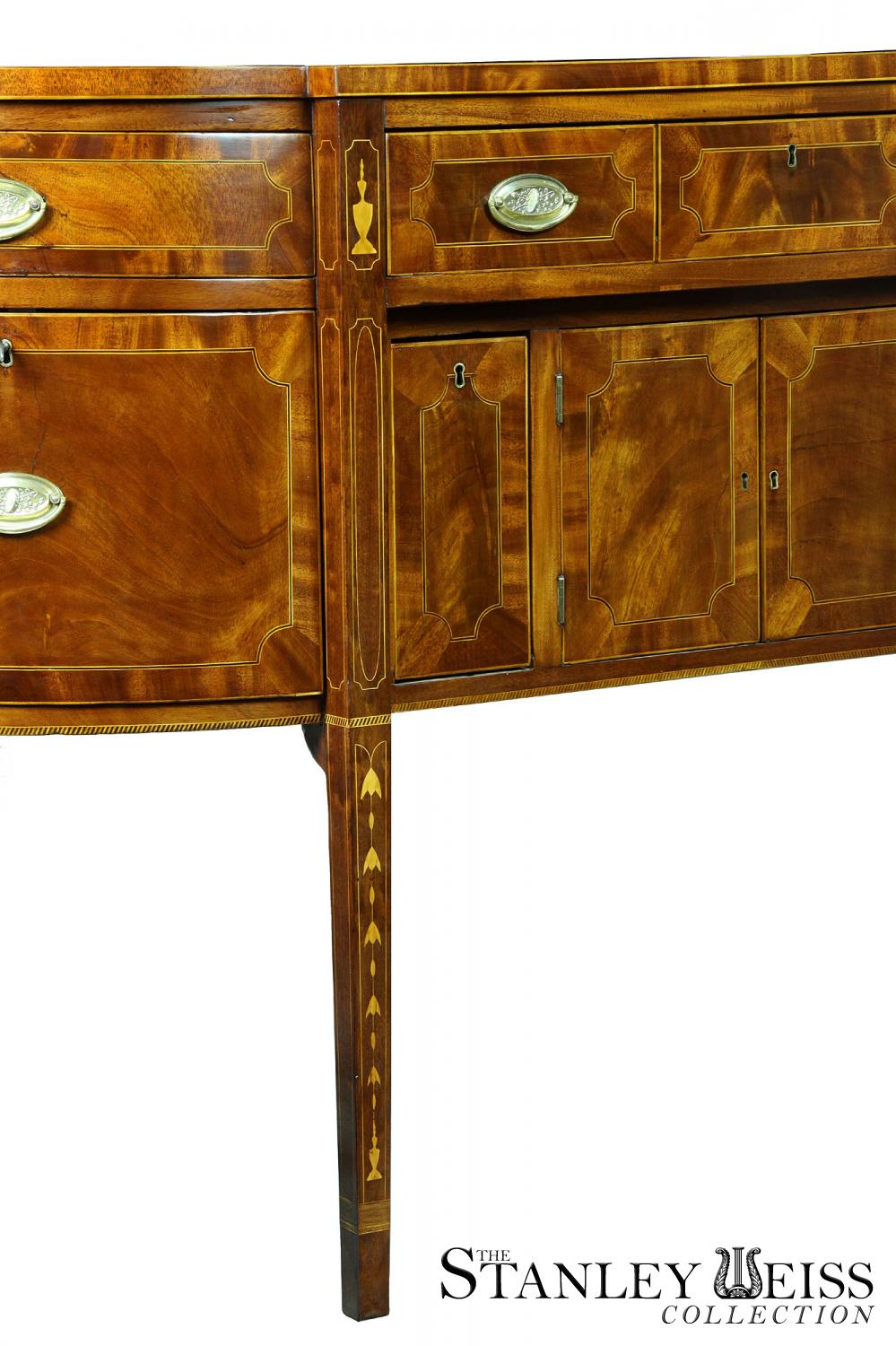 An Inlaid Mahogany Hepplewhite Sideboard with Bellflower and Urn ...