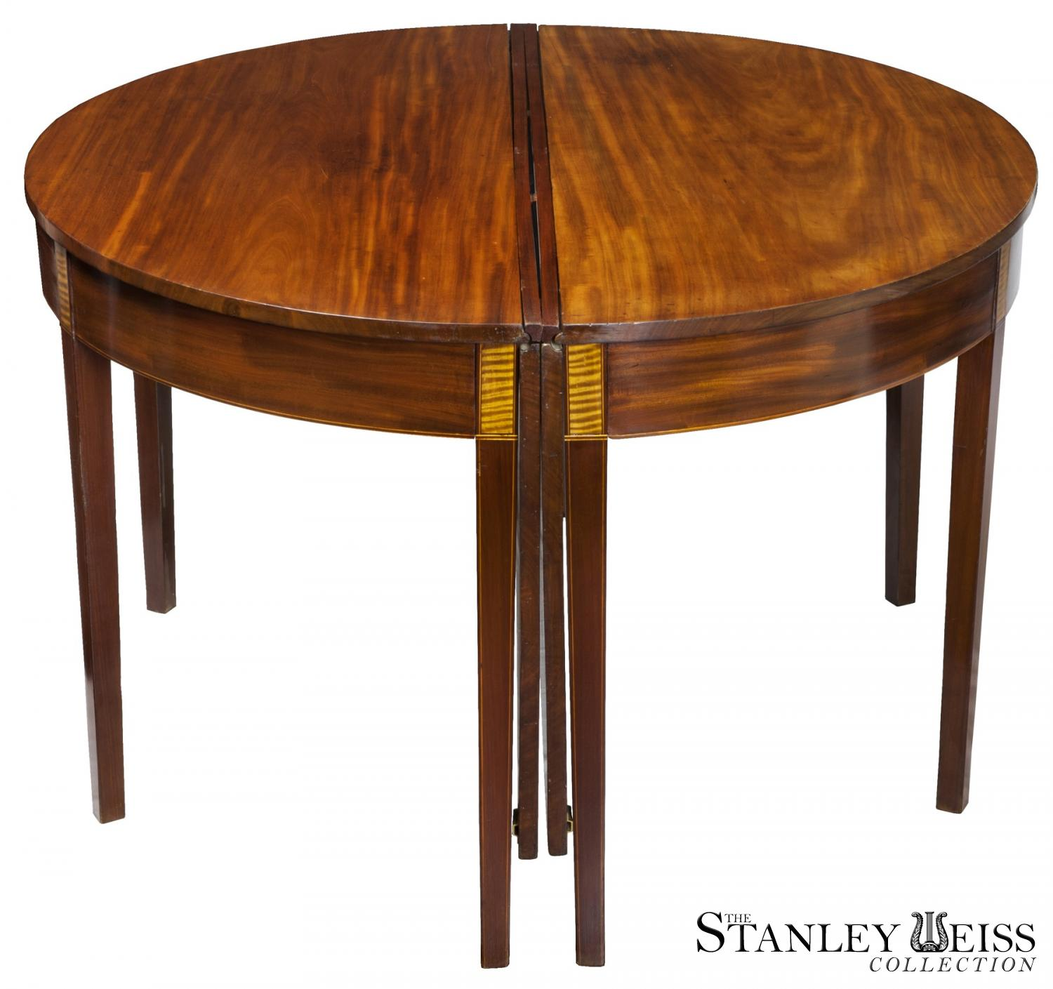 A Fine Federal Mahogany Hepplewhite 3 part BanquetDining  : 0653a81af4e606570999c6e8d3151e98 from www.stanleyweiss.com size 1500 x 1409 jpeg 138kB