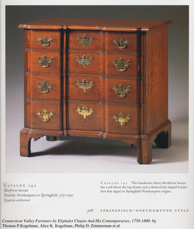 A chippendale mahogany blockfront bureau northampton or for Furniture northampton