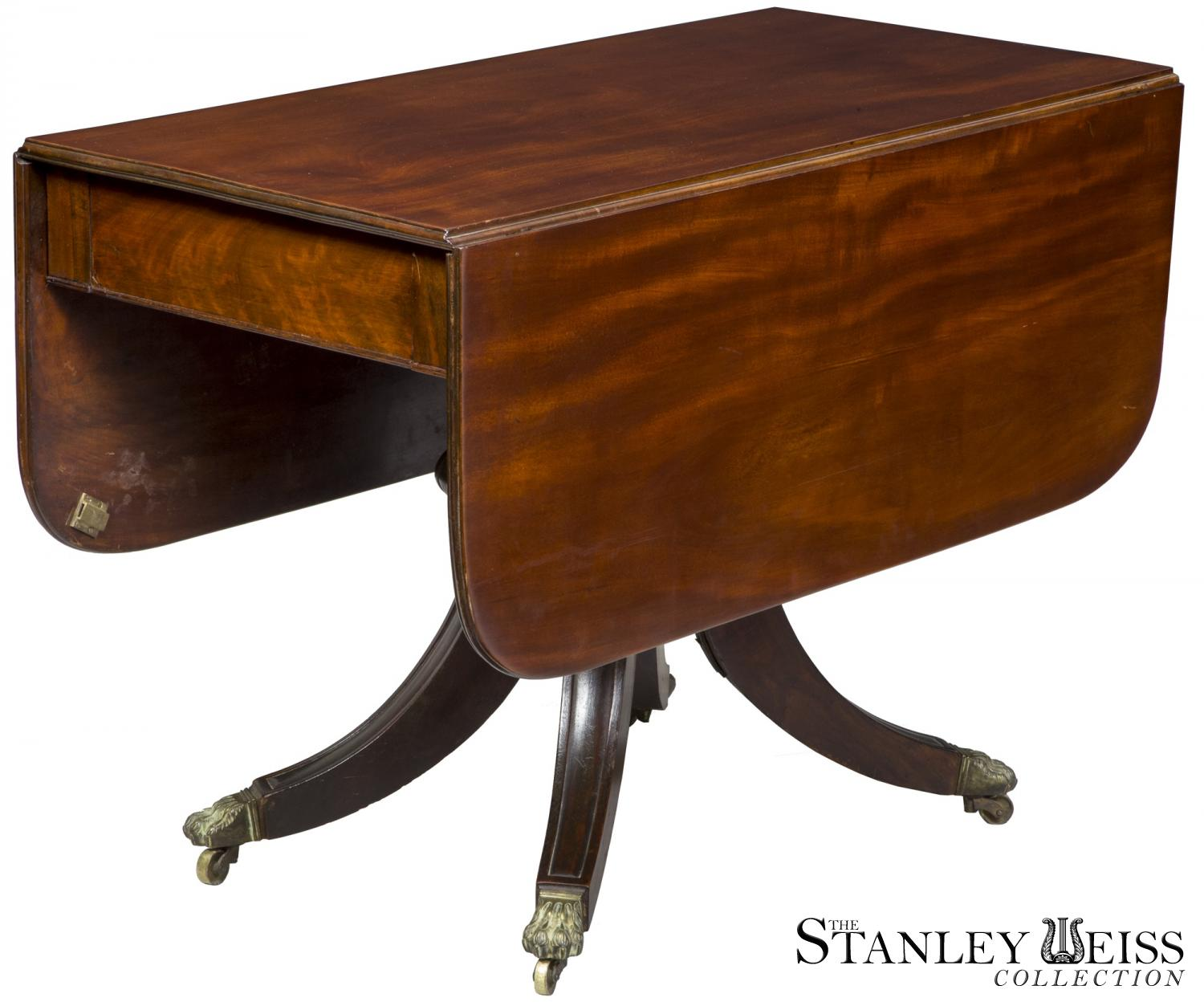 A Fine Classical Mahogany Pedestal Dining Room Table