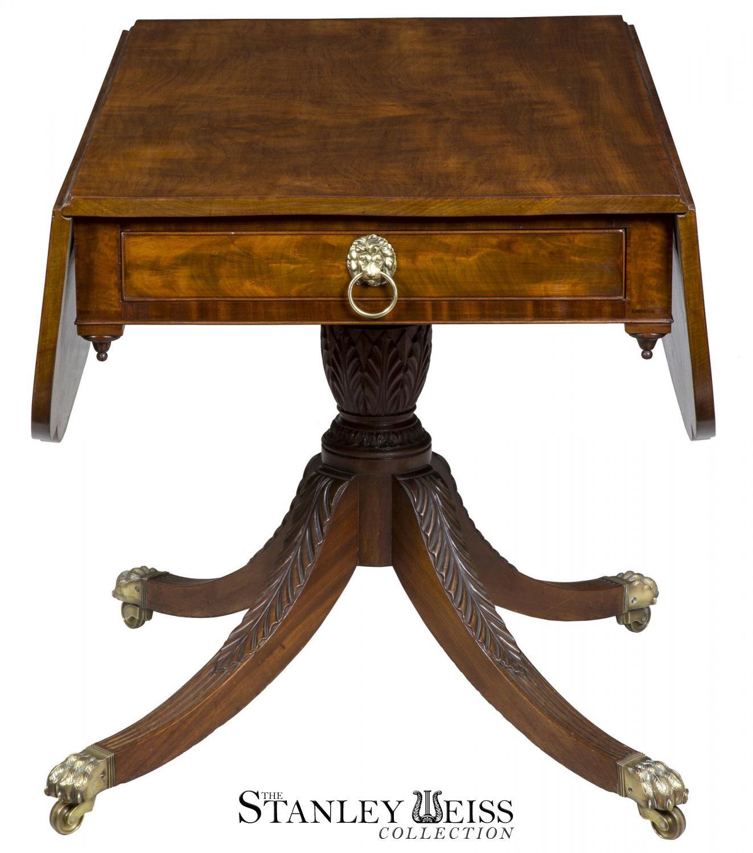 A Fine Mahogany Classical Drop Leaf Table Duncan Phyfe or
