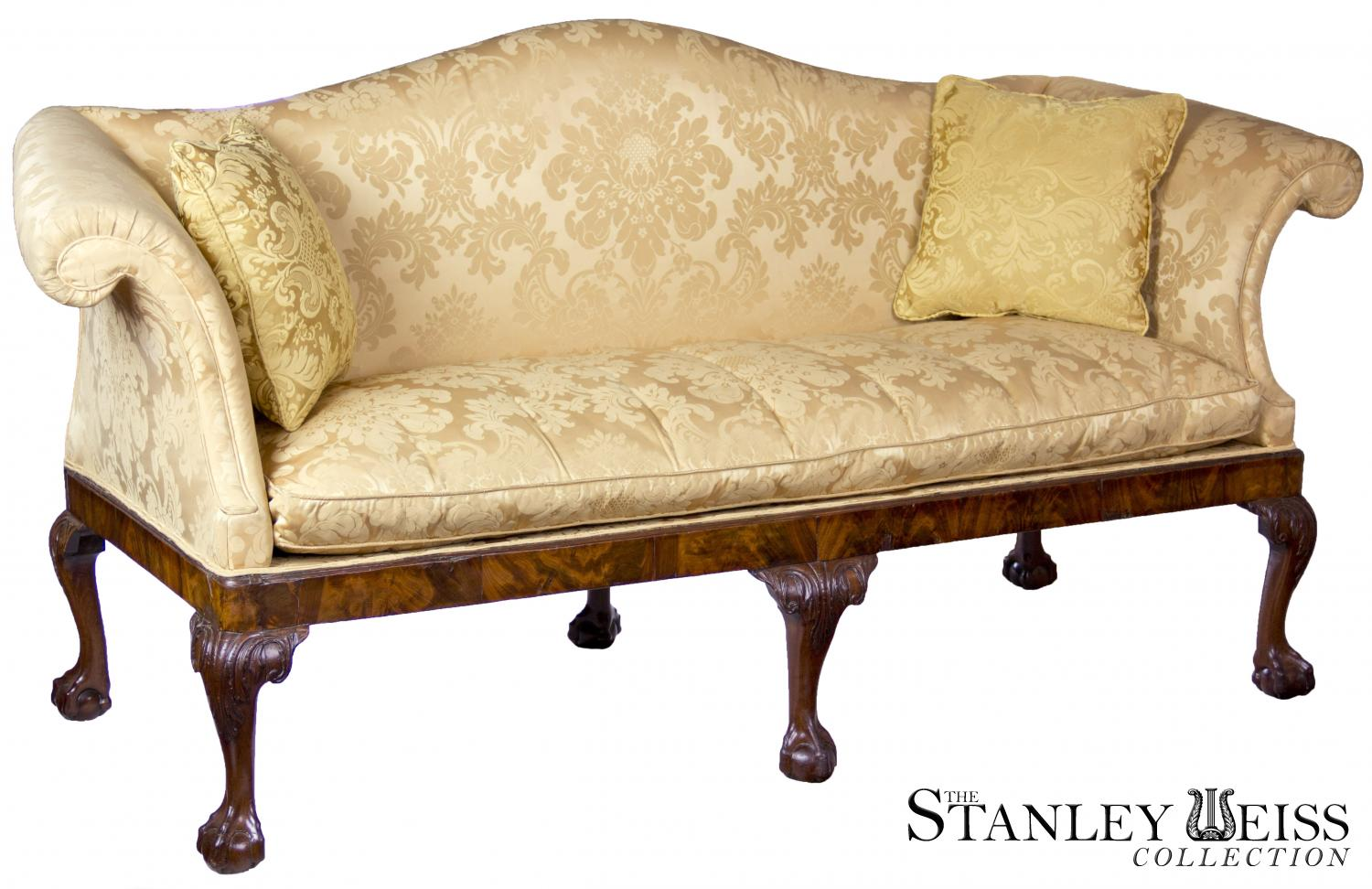 A George Ii Mahogany Chippendale Camelback Sofa With Claw And Ball Feet English Or Irish C