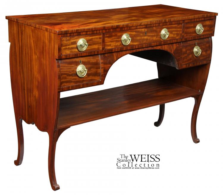 swc mahogany bombe federal classical sideboard server. Black Bedroom Furniture Sets. Home Design Ideas