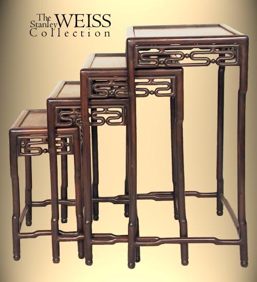Nest Of Four Chinese Stacking Tables