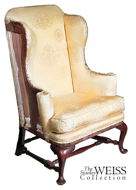 a maple queen anne wing chair boston c1750