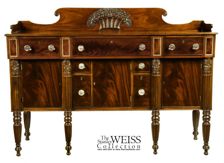 swc rare carved mahogany sideboard salem ebay. Black Bedroom Furniture Sets. Home Design Ideas